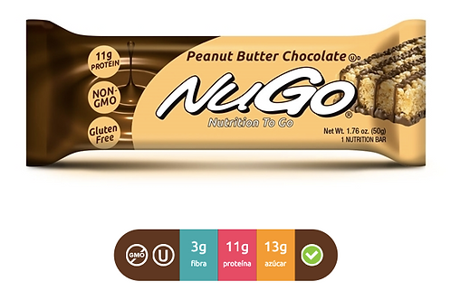 NuGo Family  Peanut Butter Chocolate (Caja con 15)