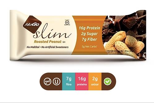 NuGO Slim Roasted Peanut (Caja con 12)
