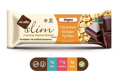 NuGO Slim Crunchy Peanut Butter (Caja con 12)
