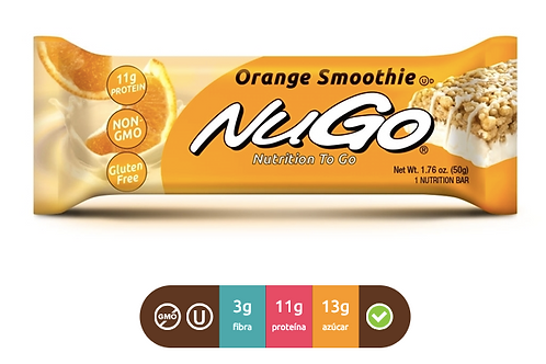 NuGo Family Orange Smoothie (Caja con 15)