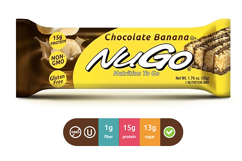NuGo Family Chocolate Banana (Caja con 15)