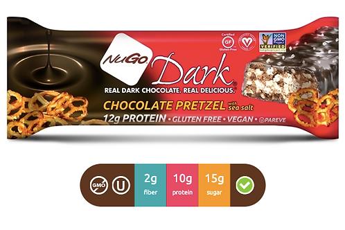 NuGo Dark Chocolate Pretzel (Caja con 12)