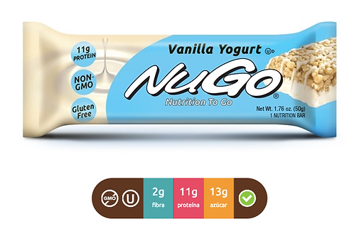 NuGo Family yogurt vainilla (Caja con 15)