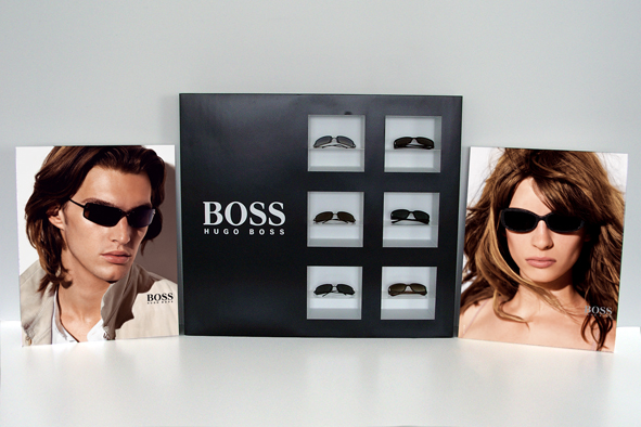 Hugo Boss Fenstervitrine