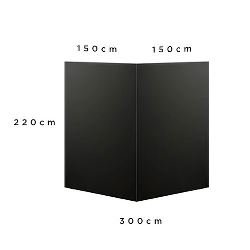 Paravan černý 3x2,2m