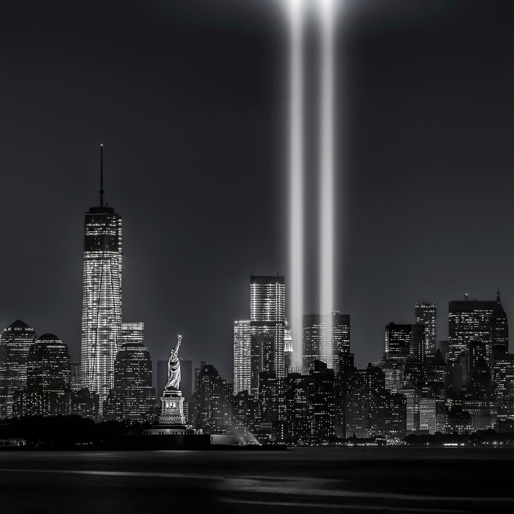 Tribute in Light for September 11th - image courtesy of iStock