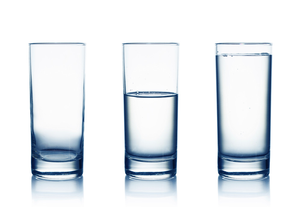 Empty, Half-Filled and Full Water Glasses - image courtesy of iStock