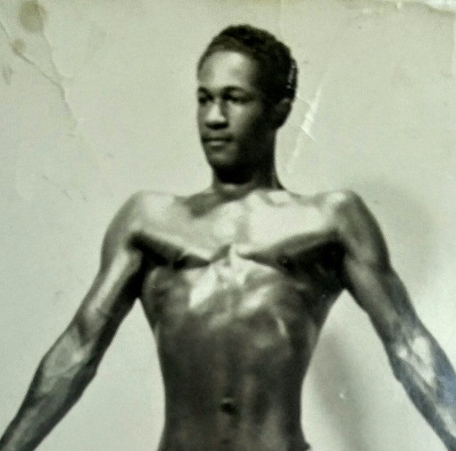 PFC Anthony Mondesire - the bodybuilding days - image courtesy of Paul Mondesire