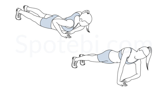 Asymmetrical pushup