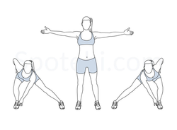 Alternating side lunge touch