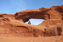 Red Bridge in the White Desert