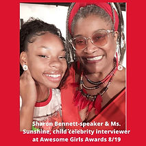 Sharon Bennett-speaker & Ms. Sunshine, c