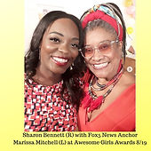 Sharon Bennett (R) with Fox5 News Mariss