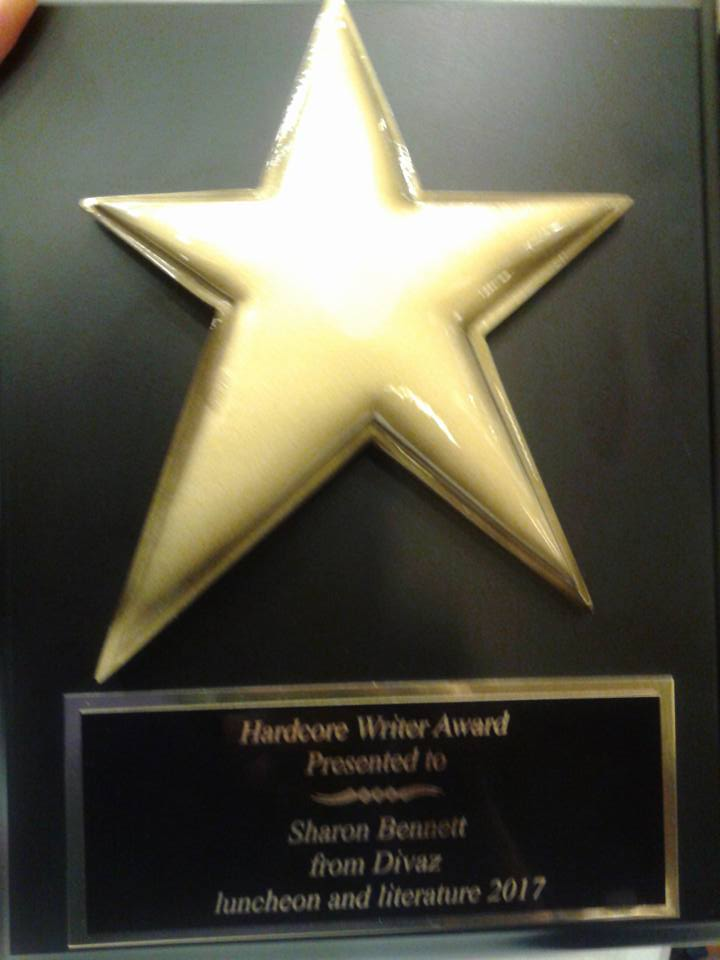Sharon's HardCore Writer Award