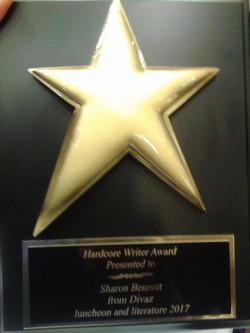 Sharon's HardCore Writer Award