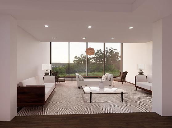 Private Residence Living Room Rendering