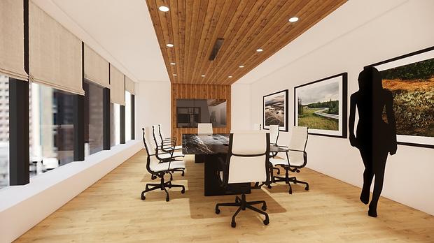 Corporate office board room in Calgary