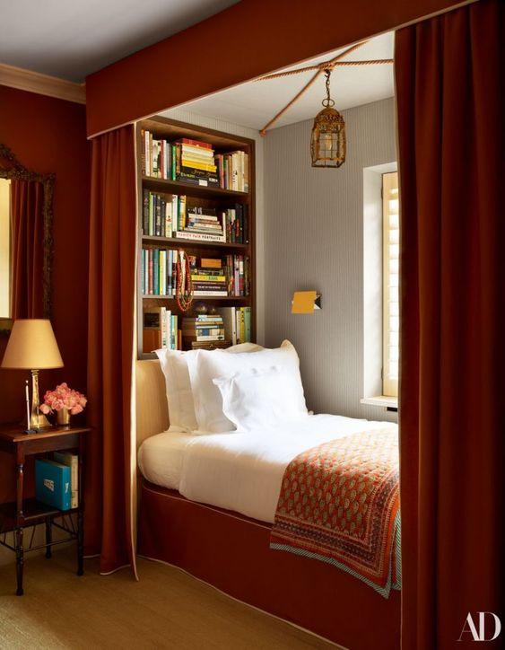 Orange Alcove Bed