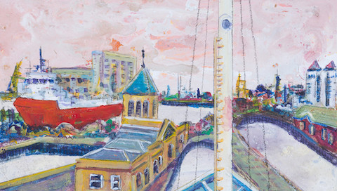 Albert Dock from MV Fingal's bow (Sold)