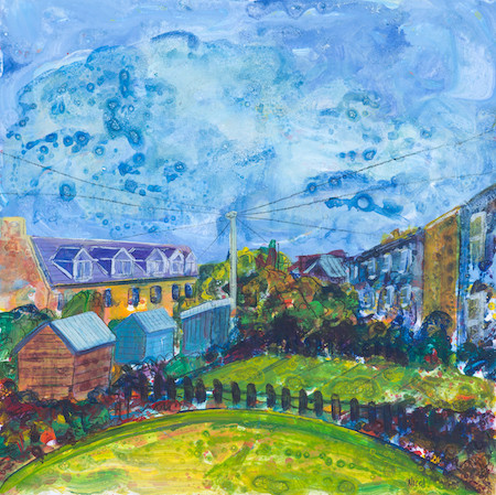 Thornville Terrace in sunshine, Lochend Colonies, Leith (Sold)