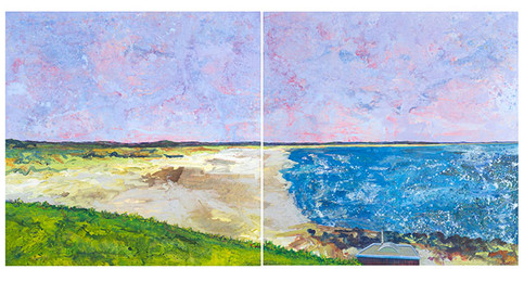 West Sands St. Andrews I & II Diptych