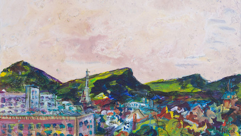 Pentlands and Leith from Ocean Terminal (Sold)