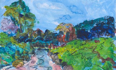 Japanese Pond, Lauriston Castle (Sold)