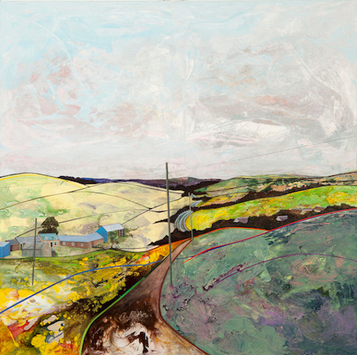The road to Biggar from Brownsbank