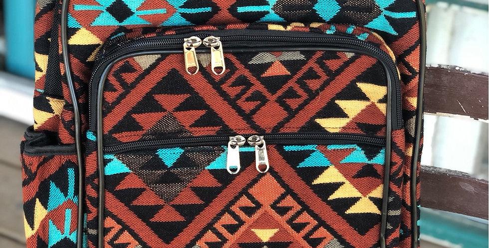 Rust Aztec Backpack