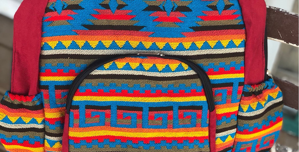 Red Aztec Backpack