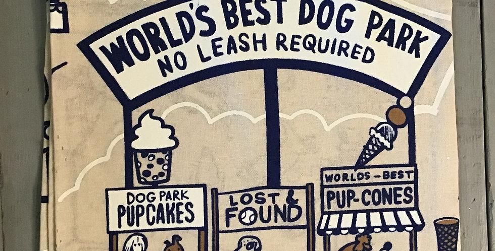 Dog Park Dish Towel