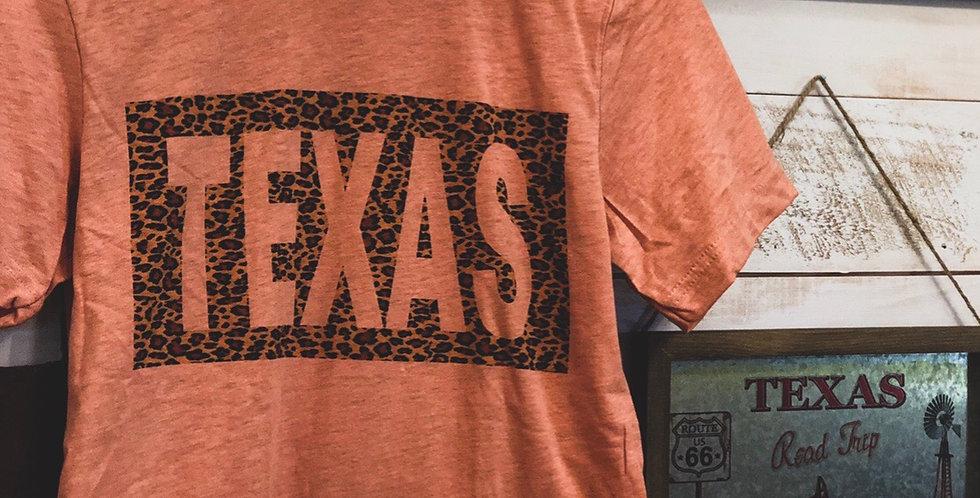 leopard texas tee