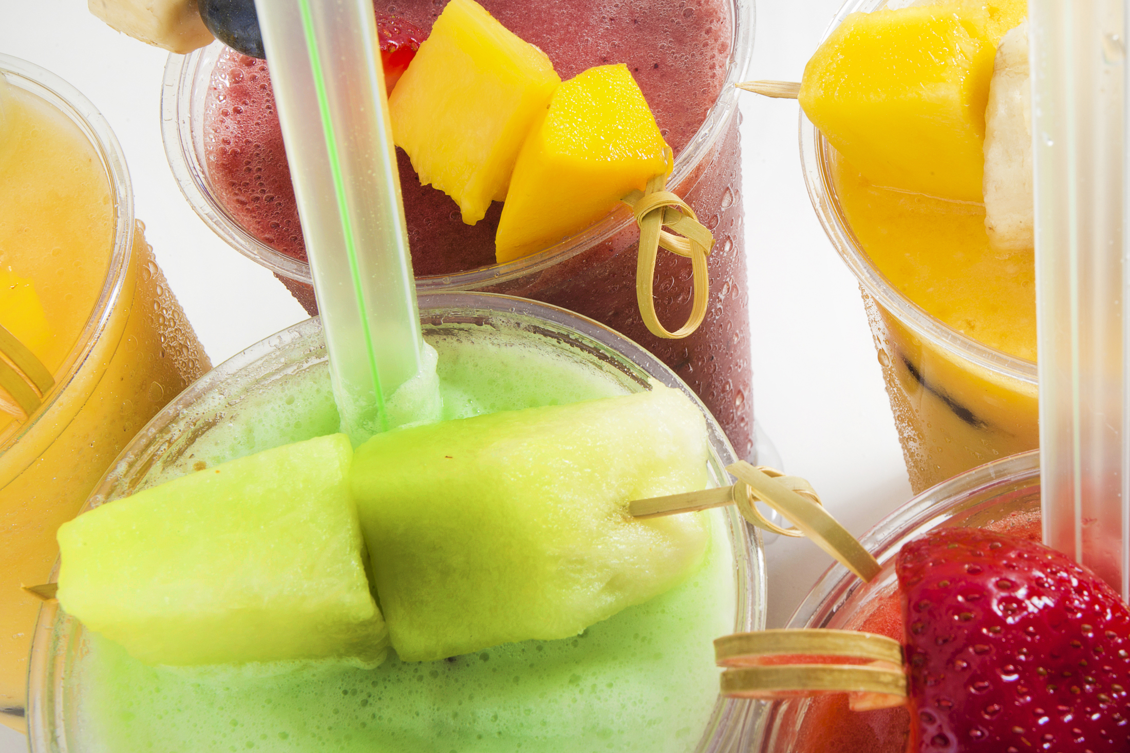 Fresh Fruit Tapioca Smoothies