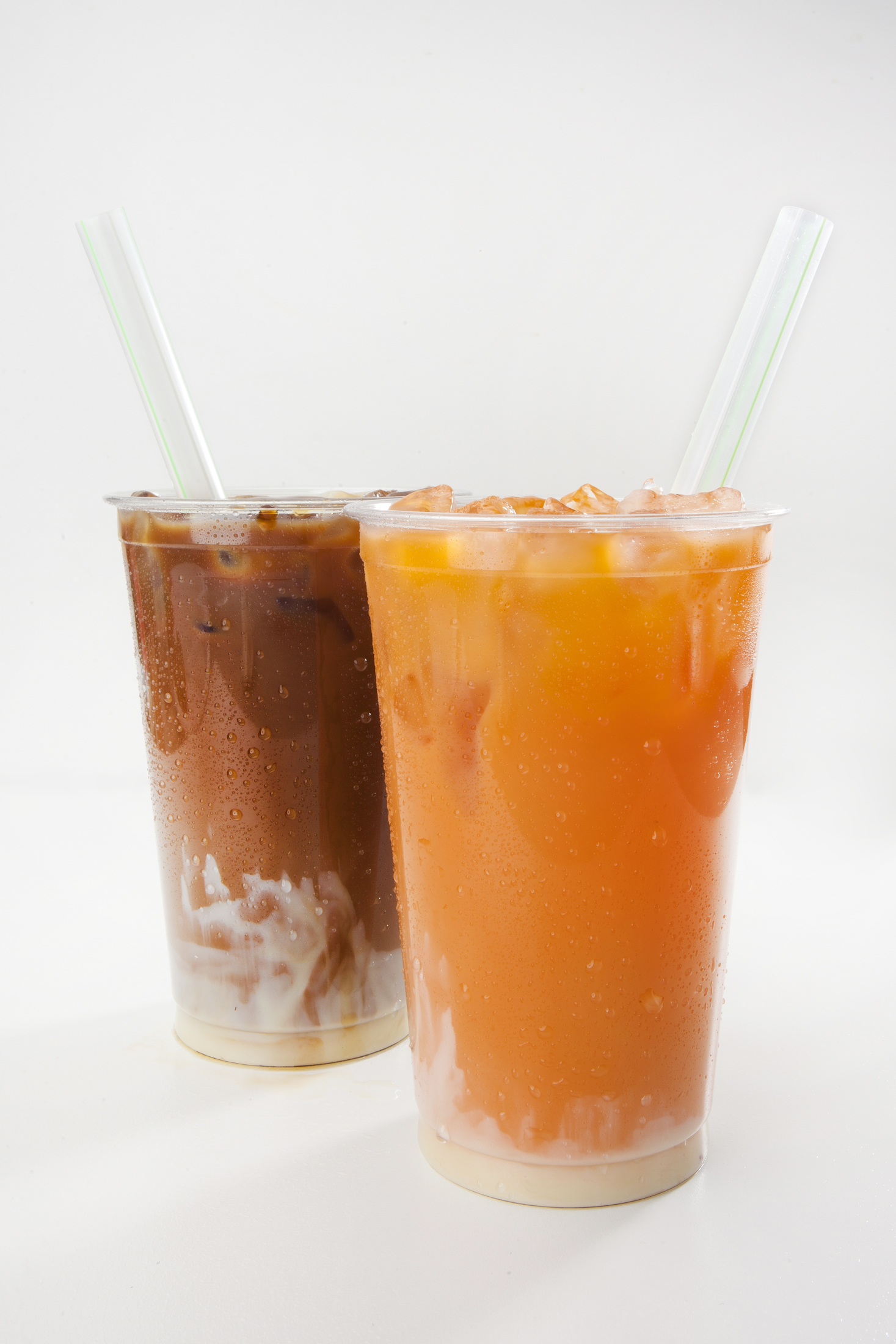 Thai Iced Coffe and Thai Ice Tea