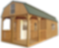 Worman's Outdoor Solutions Graceland Wrap Around Lofted Barn Cabin