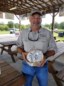 Alan Rayl, Owner of Rayl Engineering & Surveying, LLC, with his team's 3rd Place Trophy from the Mulberry Chamber of Commerce's 11th Annual Sporting Clays Shoot!