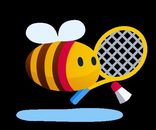 outdoor activities - bee ready to play badminton