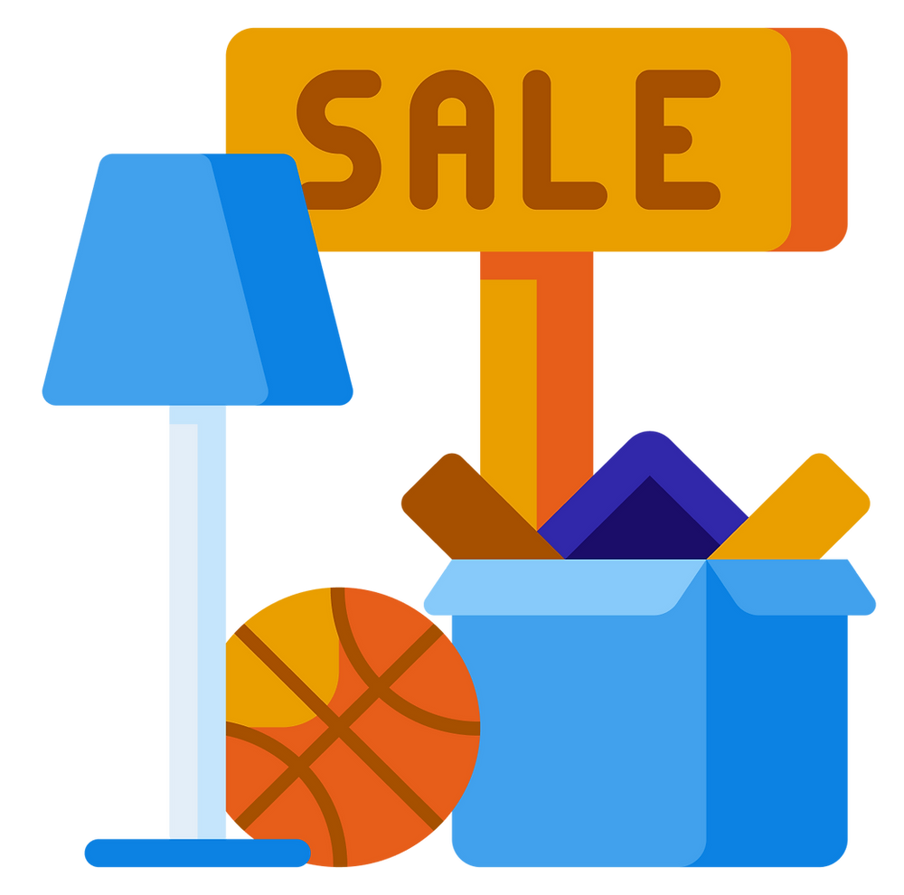 dorm shopping: yard sale
