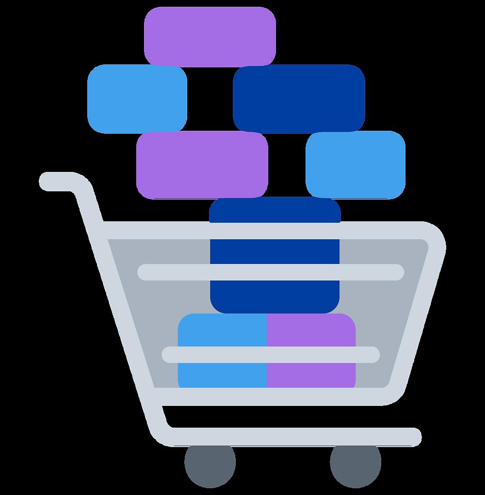 practical money skills: a full shopping cart