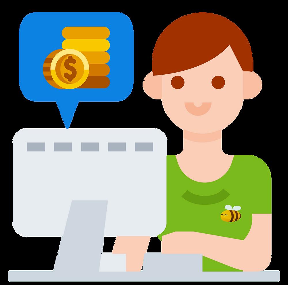 money saver: online shopping