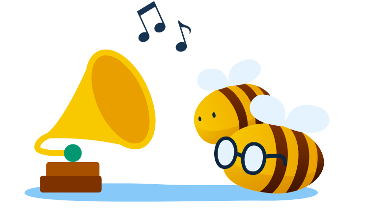 music streaming service - bees listening to classical music