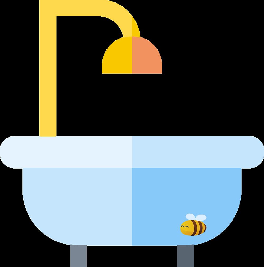 home improvements:  a bathtub