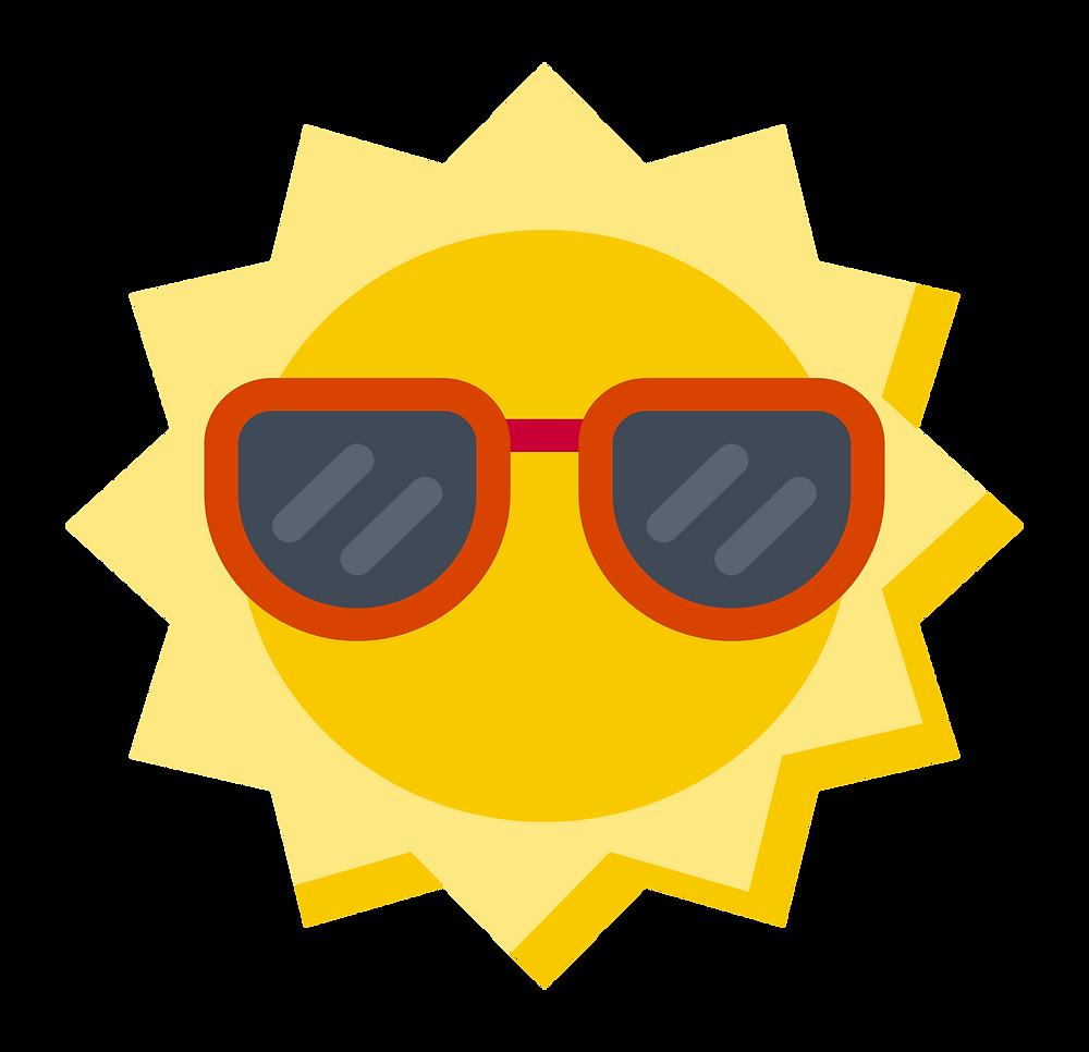environmental impact: sun wearing sunshades