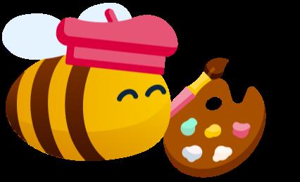 outdoor activities - an artist bee