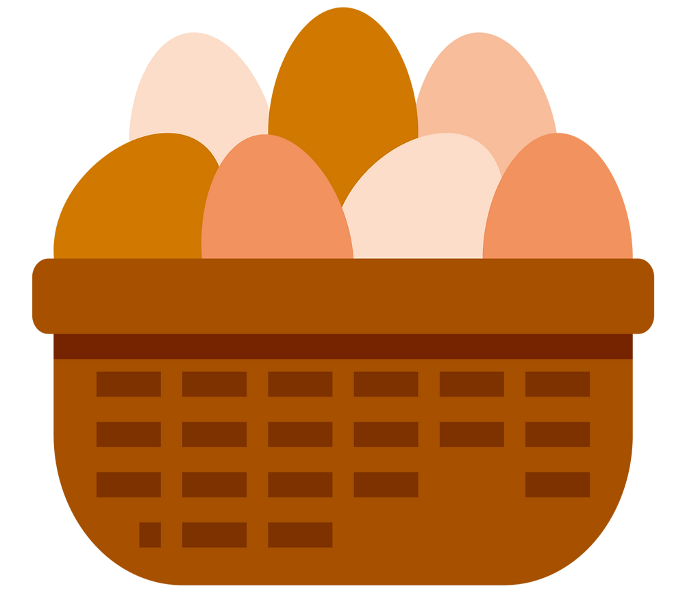benefits of passive income: all eggs in one basket