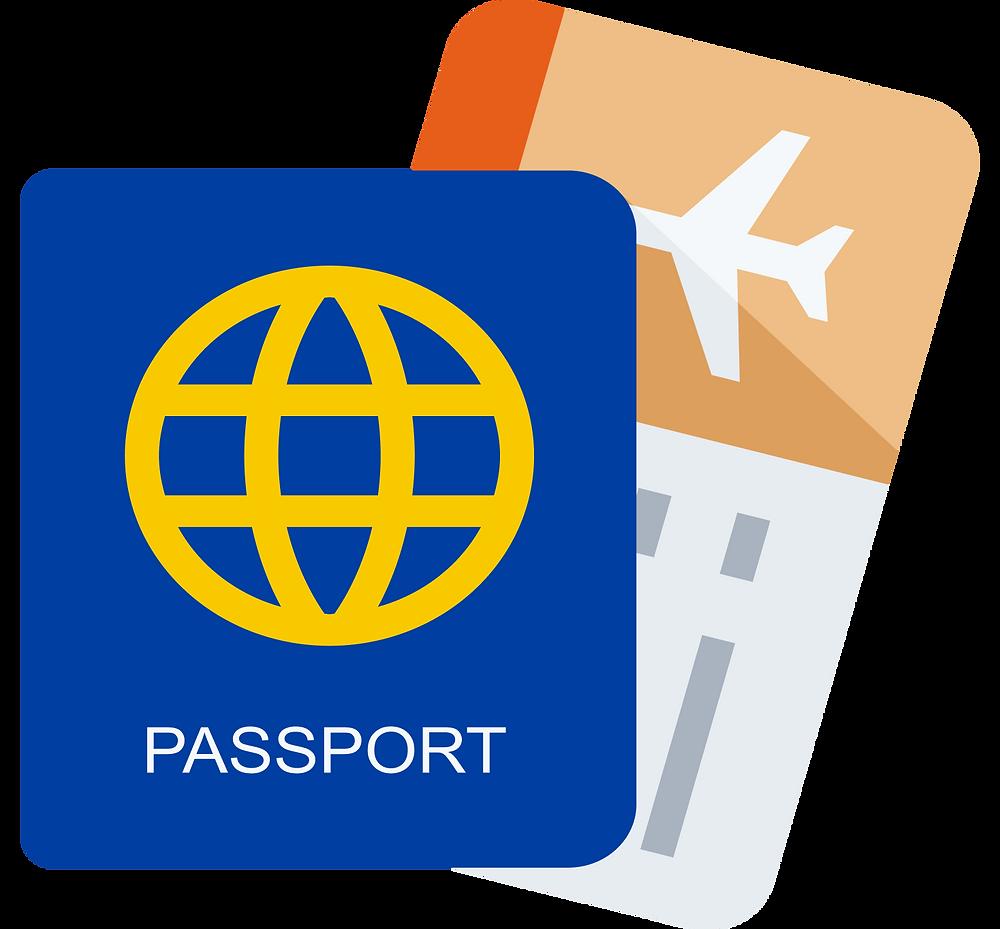 travel hacks: passport and tickets