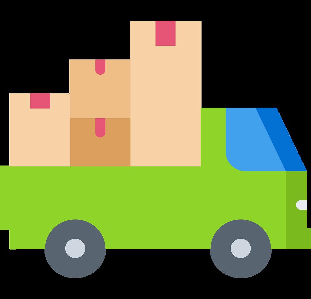 dorm shopping: transportation truck