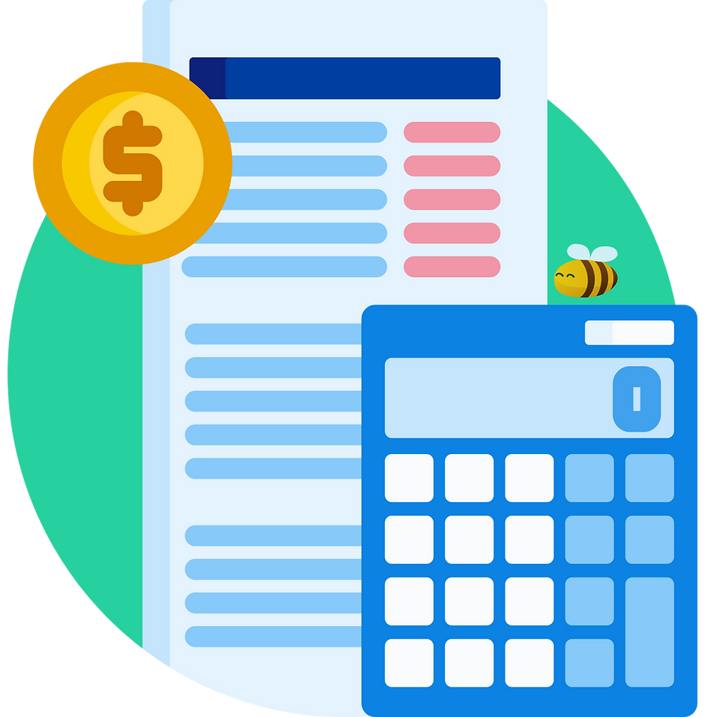 a financial plan and a calculator