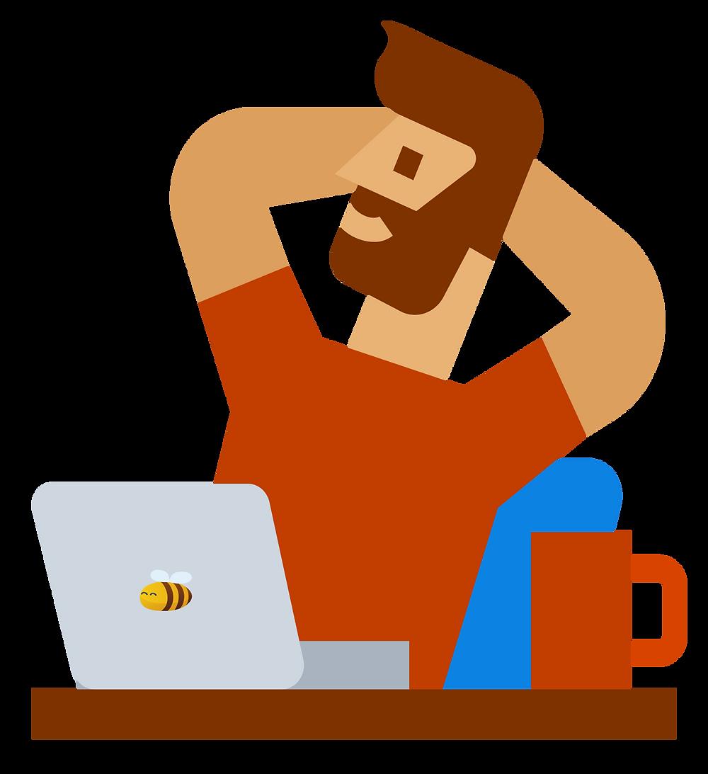 freelance jobs: a man earning passively