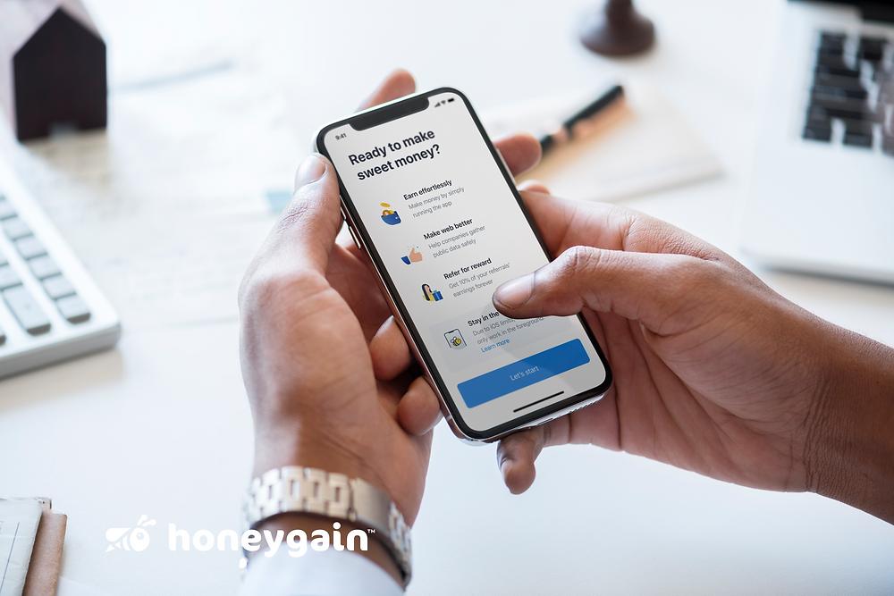 honeygain for ios: welcome screen
